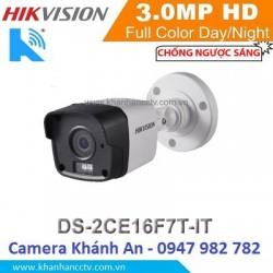Camera HD-TVI hồng ngoại 3.0 Megapixel DS-2CE16F7T-IT