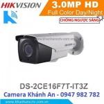 Camera HD-TVI hồng ngoại 3.0 Megapixel DS-2CE16F7T-IT3Z