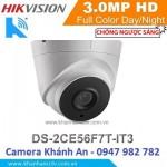 Camera HD-TVI hồng ngoại 3.0 Megapixel DS-2CE56F7T-IT3