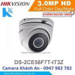 Camera HD-TVI hồng ngoại 3.0 Megapixel DS-2CE56F7T-IT3Z