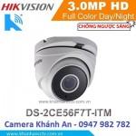 Camera HD-TVI hồng ngoại 3.0 Megapixel DS-2CE56F7T-ITM