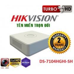 Đầu ghi hình 4 kênh Turbo HD DVR DS-7104HGHI-SH