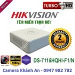 Đầu ghi hình 16 kênh DS-7116HQHI-F1/N Turbo HD 3.0 DVR