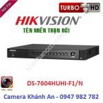 Đầu ghi 4 kênh DS-7604HUHI-F1/N