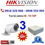 Trọn gói 3 Camera Quan Sát HIK-2CE56C0T, HD720P