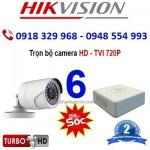 Trọn gói 6 Camera Quan Sát HIK-2CE56C0T, HD720P