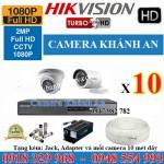 Lắp đặt trọn gói 10 camera HIKVISION 2.0M 1080P
