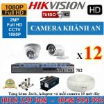 Lắp đặt trọn gói 12 camera HIKVISION 2.0M 1080P