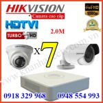Lắp đặt trọn gói 7 camera HIKVISION 2.0M 1080P
