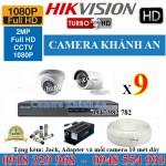 Lắp đặt trọn gói 09 camera HIKVISION 2.0M 1080P