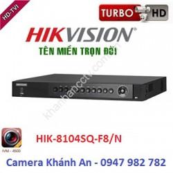 Đầu ghi hình 4 kênh Turbo Hikvision HIK-8104SQ-F8/N