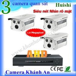 Trọn bộ 3 camera quan sát Huishi