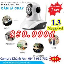 Camera không dây kết nối wifi, xoay 360,1.3 Megapixels