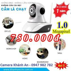Camera không dây kết nối wifi, xoay 360,1.0 Megapixels