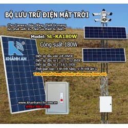 Bộ lưu trữ điện năng lượng mặt trời cho camera SL-KA180W công suất 180W