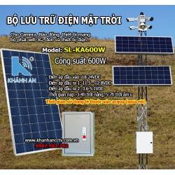 Bộ lưu trữ điện năng lượng mặt trời cho camera SL-KA600W công suất 600W