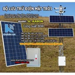 Bộ lưu trữ điện năng lượng mặt trời cho camera SL-KA80W công suất 80W