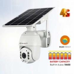 Camera IP Solar năng lượng mặt trời dùng Sim 4G VANTECH VP-2506B-4G