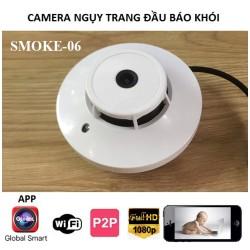 Camera ngụy trạng đầu báo khói wifi không dây SMOKE-06