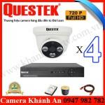 Lắp đặt trọn gói 4 camera Questek AHD