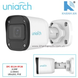 Camera UNIARCH IPC-B124-PF28 4.0MP (2.8mm) Ultra265, POE