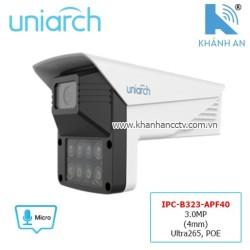 Camera UNIARCH IPC-B323-APF40 3.0MP (4mm) Ultra265, POE