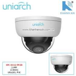 Camera UNIARCH IPC-D112-PF28 2.0MP (2.8mm) Ultra265, POE