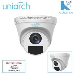 Camera UNIARCH IPC-T122-PF28 2.0MP (2.8mm) Ultra265, POE