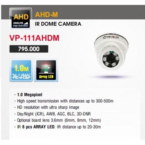 Camera Vantech Dome AHD VP-111AHDM 1.0MP, đại lý, phân phối,mua bán, lắp đặt giá rẻ