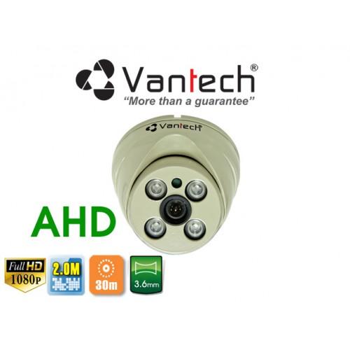 Camera Vantech Dome AHD VP-224AHDH 2.0MP, đại lý, phân phối,mua bán, lắp đặt giá rẻ