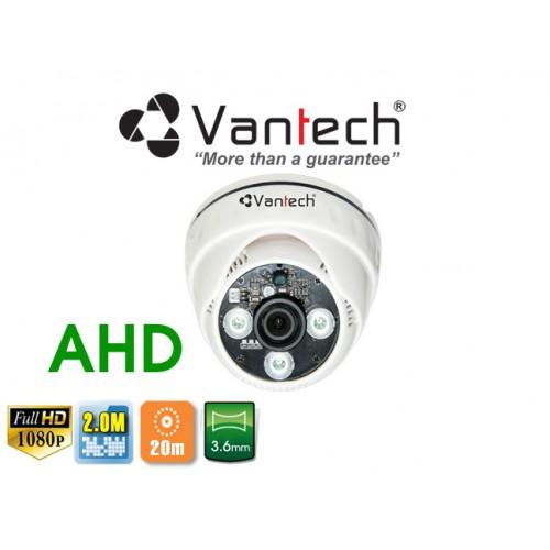 Camera Vantech Dome AHD VP-227AHDH 2.0MP, đại lý, phân phối,mua bán, lắp đặt giá rẻ