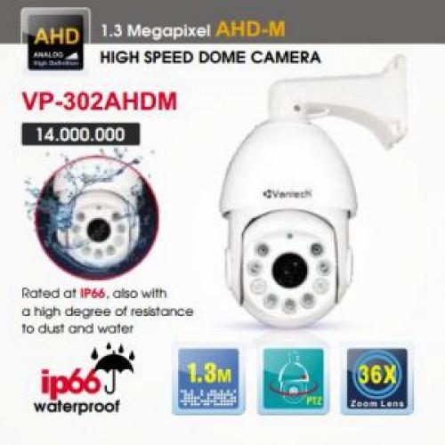 Camera Vantech Speedome AHD VP-302AHDM 1.3MP, đại lý, phân phối,mua bán, lắp đặt giá rẻ