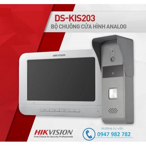 Bộ chuông cửa có hình Analog Hikvision DS-KIS203, đại lý, phân phối,mua bán, lắp đặt giá rẻ