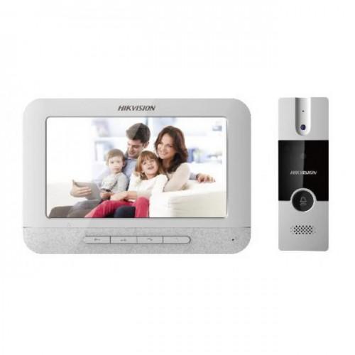 Bộ chuông cửa màn hình căn hộ hikvision DS-KIS201, đại lý, phân phối,mua bán, lắp đặt giá rẻ