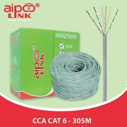 Cáp mạng Aipoo Link CCA CAT6, 23AWG 0.57mm, Hợp Kim, Xám