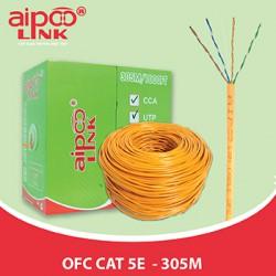 Cáp mạng Aipoo Link OFC CAT5E, 24AWG 0.51mm, Cam