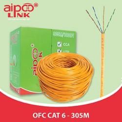 Cáp mạng Aipoo Link OFC CAT6, 23AWG 0.57mm, Cam