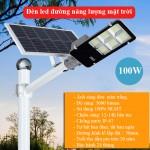 Đèn LED năng lượng mặt trời 100W LD-J100, lắp đường