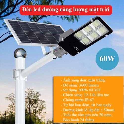 Đèn năng lượng mặt trời 60W LD-J60, đại lý, phân phối,mua bán, lắp đặt giá rẻ