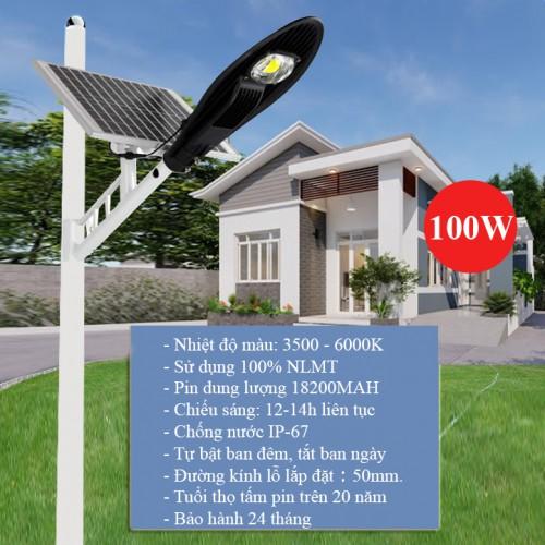 Đèn LED năng lượng mặt trời 100W LD-L100, lắp đường, đại lý, phân phối,mua bán, lắp đặt giá rẻ