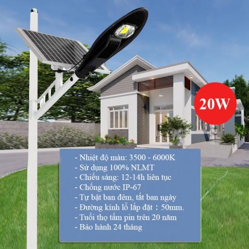 Đèn LED năng lượng mặt trời 20W LD-L20, lắp đường, đại lý, phân phối,mua bán, lắp đặt giá rẻ