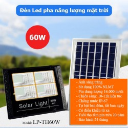 Đèn LED năng lượng mặt trời 60W LP-TH60, LED pha