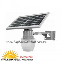 Đèn LED năng lượng mặt trời 25W LSV-A9, lắp sân vườn