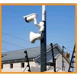 Camera quan sát kết hợp âm thanh thông báo từ xa qua mạng internet