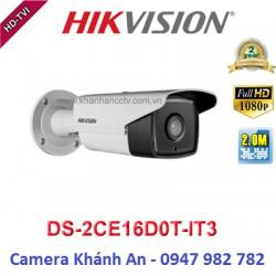 Camera HIKVISION DS-2CE16D0T-IT3 HD TVI hồng ngoại 2.0 MP