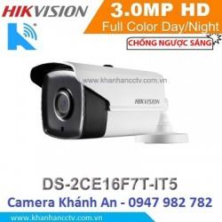 Camera HIKVISION DS-2CE16F7T-IT5 HD TVI hồng ngoại 3.0 MP