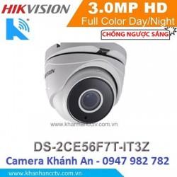 Camera HIKVISION DS-2CE56F7T-IT3Z HD TVI hồng ngoại 3.0 MP