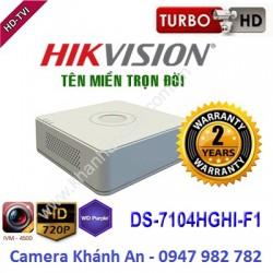 Đầu ghi camera HIKVISION DS-7104HGHI-F1 4 kênh