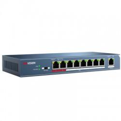 Switch mạng 8 cổng PoE DS-3E0109P-E(C), 1 uplink 10/100M