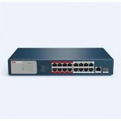 Switch mạng 16 cổng PoE DS-3E0318P-E/M(B), 2 uplink 10/100/1000M